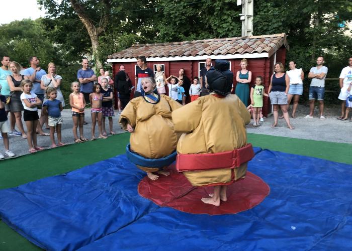 Sumo-Unterhaltung: ein guter Teil des Lachens!