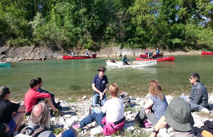 Technischer Workshop während des Open Canoe Festivals
